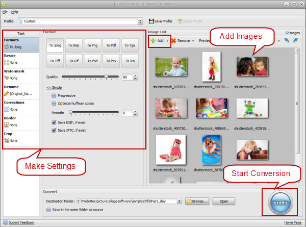 convert pictures to jpg format