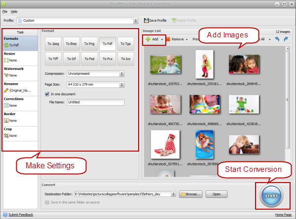 batch convert jpg to pdf freeware